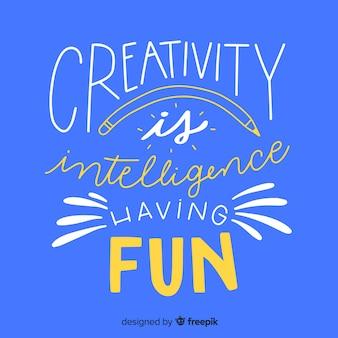 Hand gezeichneter kreativitätszitat-beschriftungshintergrund