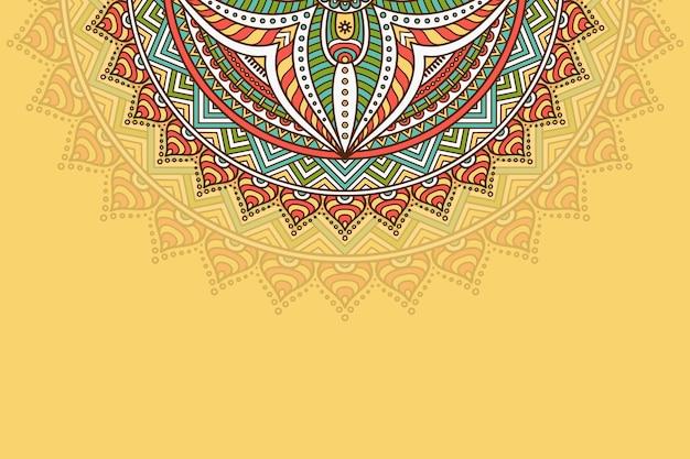 Hand gezeichneter mandala hintergrund