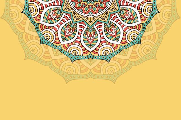 Hand gezeichneter mandala hintergrund Premium Vektoren