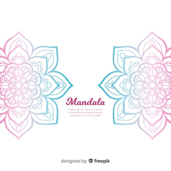 Hand gezeichneter mandalahintergrund
