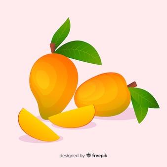 Hand gezeichneter mangohintergrund