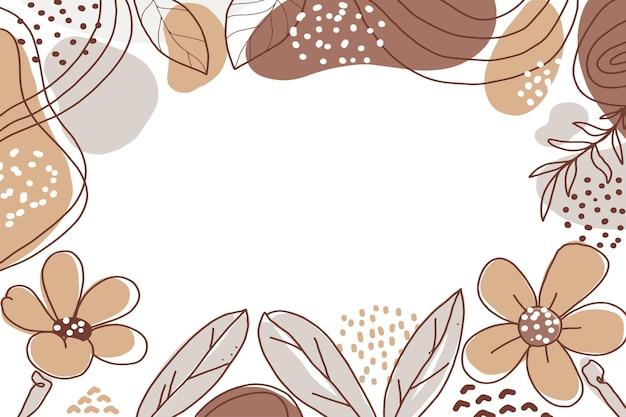 Hand gezeichneter minimalistischer formblumenzusammenfassungshintergrund mit farbpastell