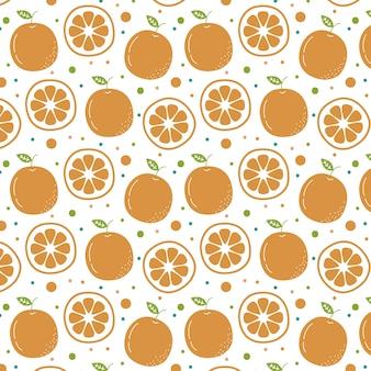 Hand gezeichneter orange musterhintergrund