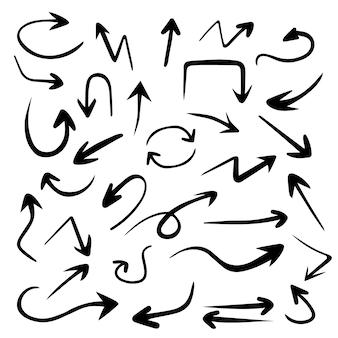 Hand gezeichneter pfeilsatz