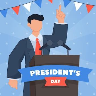 Hand gezeichneter präsidententag