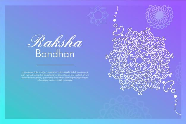 Hand gezeichneter raksha bandhan mit dekoration