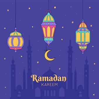 Hand gezeichneter ramadan kareem