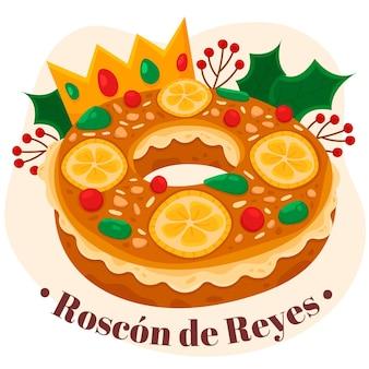 Hand gezeichneter roscon de reyes