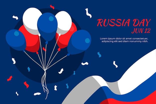Hand gezeichneter russischer tageshintergrund