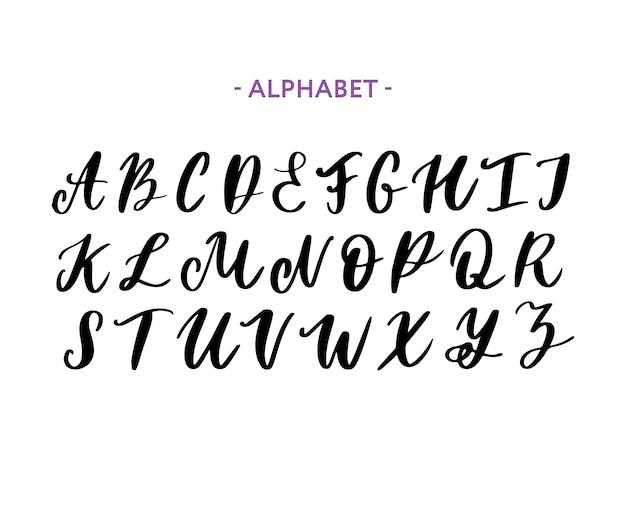 Hand gezeichneter schriftbildsatz lokalisiert auf weiß