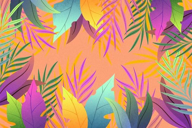 Hand gezeichneter sommerhintergrund für videoanrufe