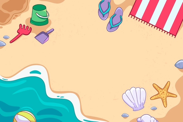 Hand gezeichneter sommerhintergrund