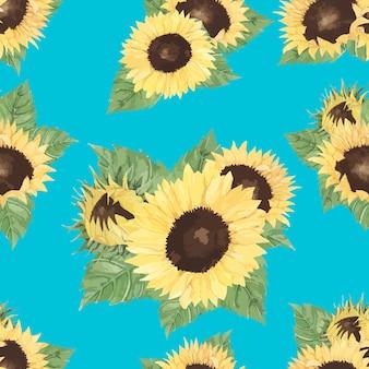 Hand gezeichneter sonnenblume getrennter hintergrund