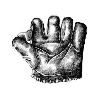Hand gezeichneter sportlederhandschuh