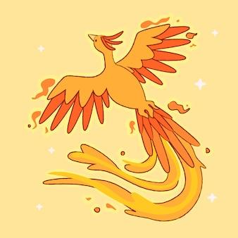 Hand gezeichneter stil phoenix