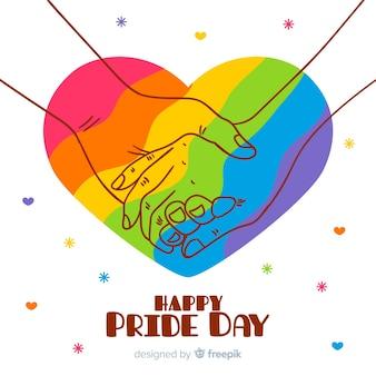 Hand gezeichneter stolz-tageshintergrund