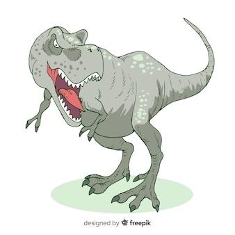 Hand gezeichneter t-rex hintergrund