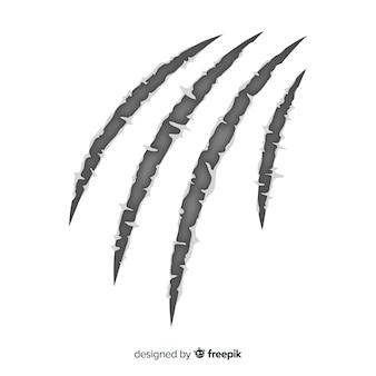 Hand gezeichneter tiger kratzt hintergrund