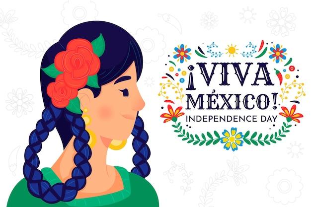Hand gezeichneter unabhängigkeitstag von mexiko