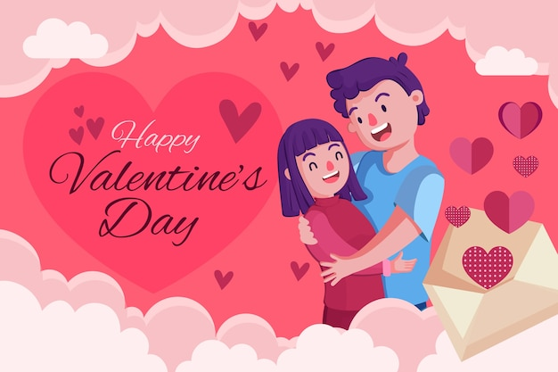 Hand gezeichneter valentinstaghintergrund