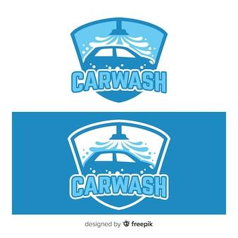 Hand gezeichneter waschanlage-logohintergrund