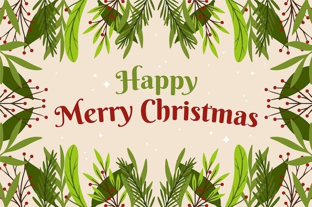 Hand gezeichneter weihnachtsbaumzweighintergrund