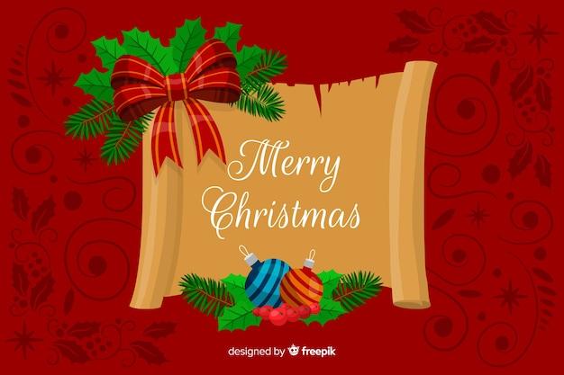 Hand gezeichneter weihnachtshintergrund
