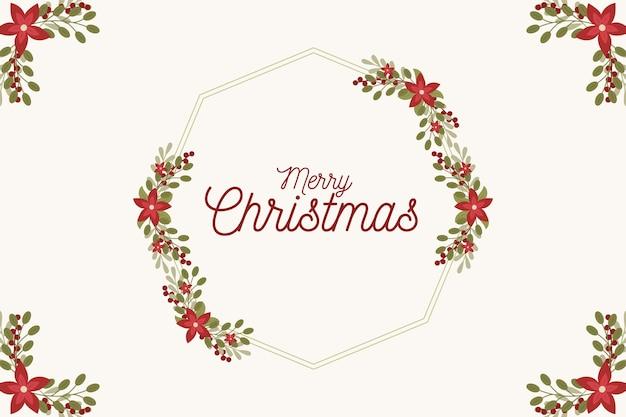Hand gezeichneter weihnachtskranz