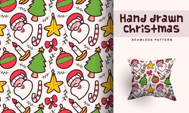 Hand gezeichneter weihnachtsmusterentwurf