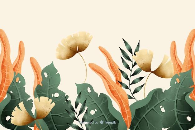 Hand gezeichneter weinlesegartenhintergrund
