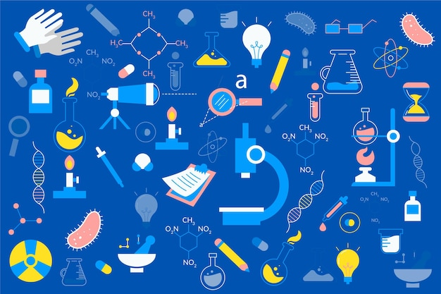 Hand gezeichneter wissenschaftlicher hintergrund