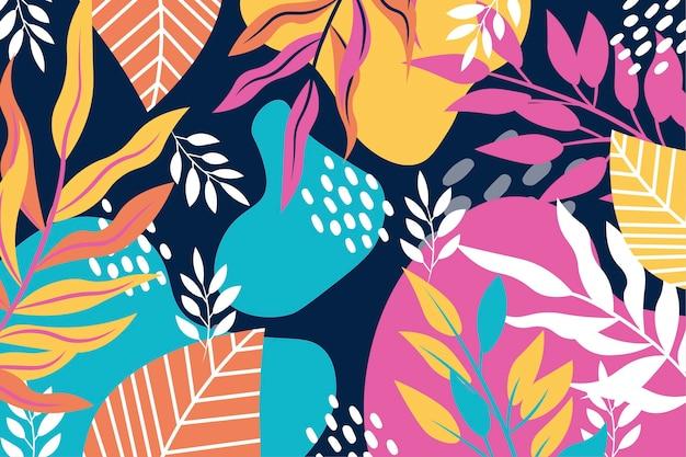 Hand gezeichnetes abstraktes blattmuster