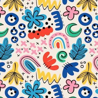 Hand gezeichnetes abstraktes formenmuster