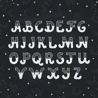 Hand gezeichnetes alphabet
