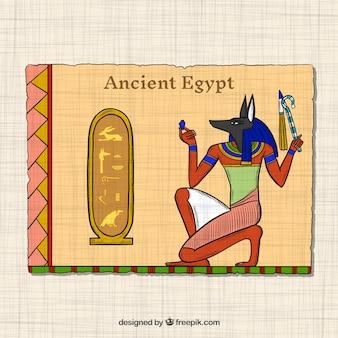 Hand gezeichnetes altes ägypten-konzept