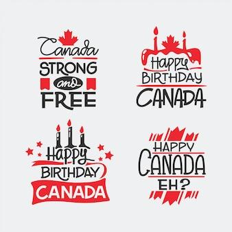 Hand gezeichnetes beschriftungszitat für kanada-tag. fête du canada übersetzt canada day