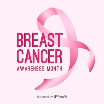 Hand gezeichnetes brustkrebsbewusstsein
