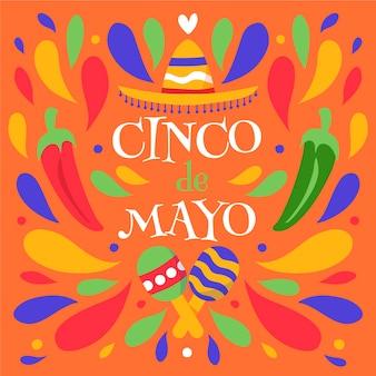 Hand gezeichnetes design cinco de mayo