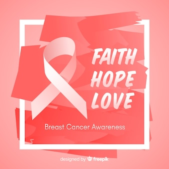 Hand gezeichnetes design für brustkrebs-bewusstseinsereignis