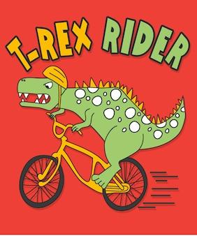 Hand gezeichnetes dinosauriervektordesign für t-shirt drucken