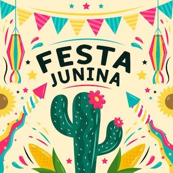 Hand gezeichnetes festa junina-konzept