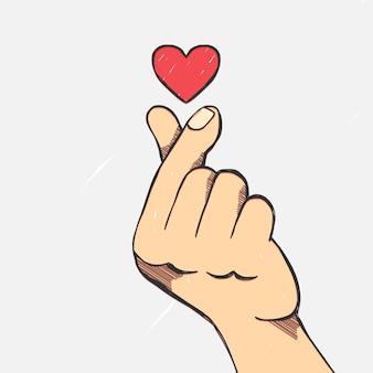 Hand gezeichnetes fingerherz