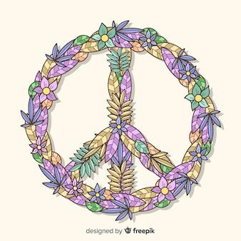 Hand gezeichnetes Friedenszeichen