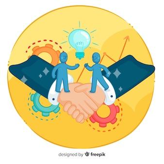 Hand gezeichnetes geschäftsvereinbarungskonzept