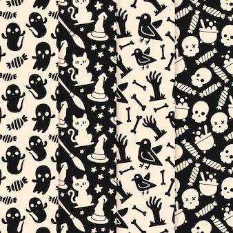 Hand gezeichnetes halloween-muster