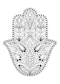 Hand gezeichnetes hamsa-symbol.
