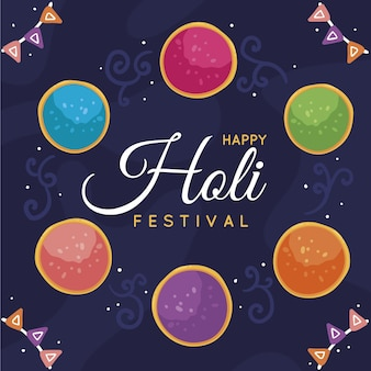Hand gezeichnetes holi festival