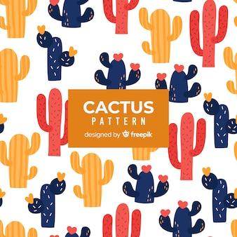 Hand gezeichnetes kaktusmuster