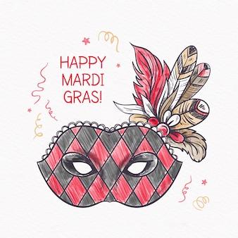 Hand gezeichnetes karnevalkonzept