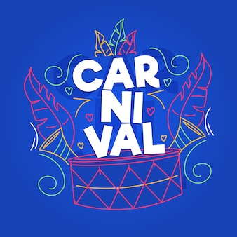 Hand gezeichnetes karnevalskonzept